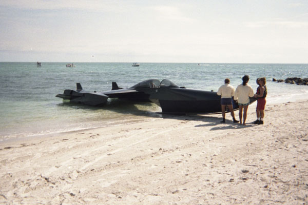 1991-The-100-Lives-of-Black-Jack-Savage-1-black-plane-in-shore